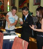 Luccio Cecchinello shares his cake with us!