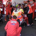 Rossi garage at testing