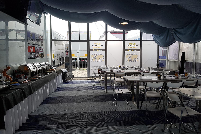 Pole Position Club inside motogp paddock