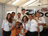 Team Angai celebrates best ever result at Misano