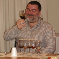 Julian Ryder samples the sherry at our opening party in Jerez